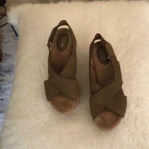 Women's Clark's wedge sandal size 8